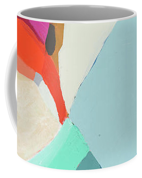 Abstract Coffee Mug featuring the painting Georgia To My Left by Claire Desjardins