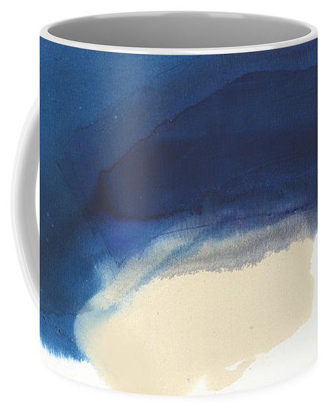 Abstract Coffee Mug featuring the painting Go Easy by Claire Desjardins