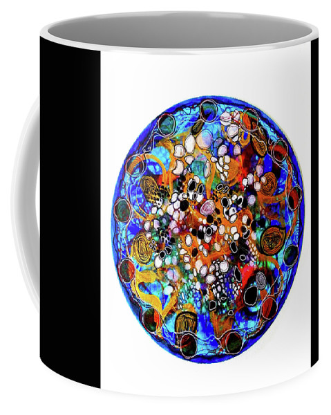 Energy Painting Coffee Mug featuring the mixed media Go With The Flow 1 by Mimulux patricia No
