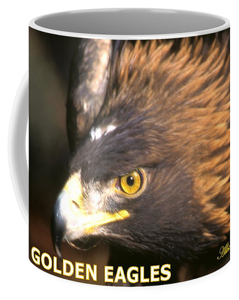 Eagles Coffee Mug featuring the photograph Golden Eagles Mascot 10 by Larry Allan