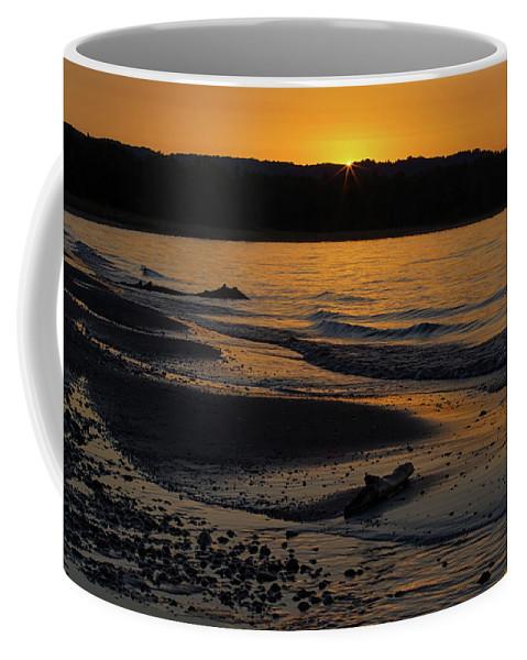Sleeping Coffee Mug featuring the photograph Good Harbor Bay Sunset by Heather Kenward