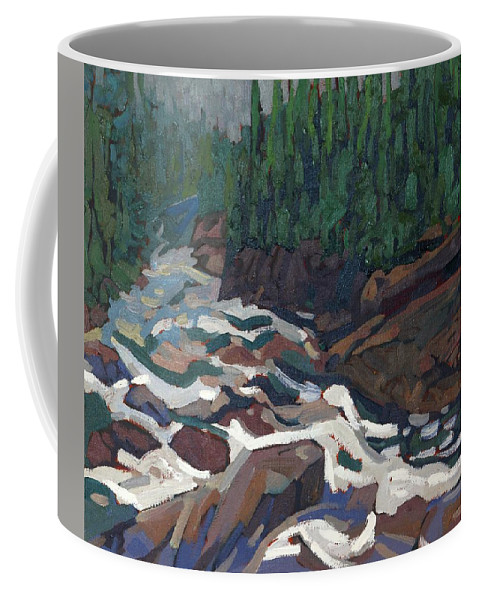 2142 Coffee Mug featuring the painting Grande Chute Morning Light by Phil Chadwick