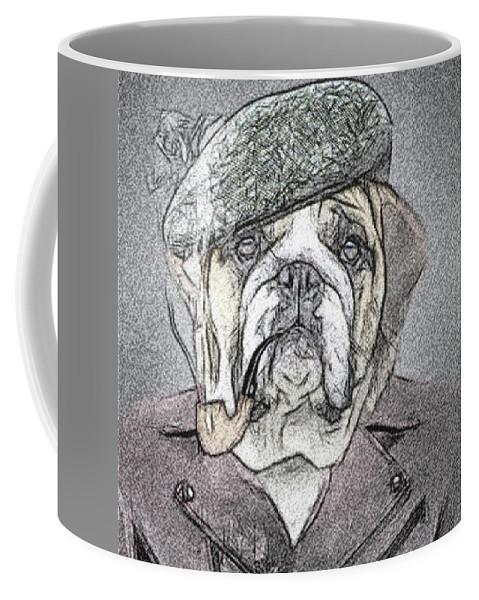 #dog Coffee Mug featuring the drawing Grandpa by Karl-Heinz Luepke