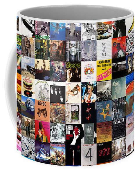 Album Covers Coffee Mug featuring the digital art Greatest Album Covers of All Time by Zapista OU