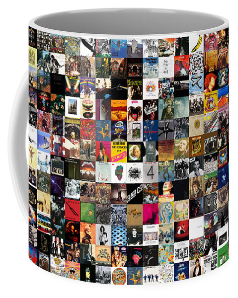 Album Covers Coffee Mug featuring the digital art Greatest Rock Albums of All Time by Zapista OU