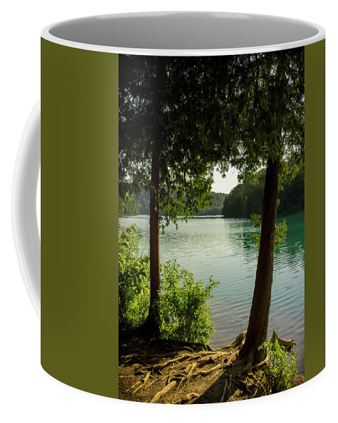 Green Coffee Mug featuring the photograph Green Lake, Ny by Mike Lent