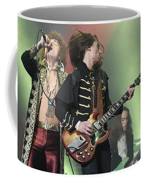 Brothers Coffee Mug featuring the photograph Greta Van Fleet by Concert Photos