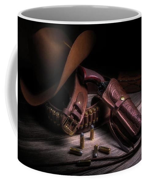 Colt Coffee Mug featuring the photograph Gunslinger by Tom Mc Nemar
