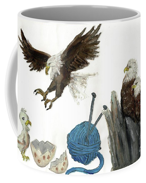 Coffee Mug featuring the painting Gyps by Sigalit Aharoni