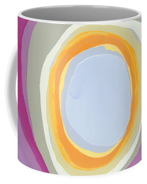 Abstract Coffee Mug featuring the painting Hang Cool by Claire Desjardins