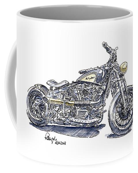 Heritage Motorcycle And Drawing Davidson Softail Wate Harley Mug Ink Coffee qSzMVpU