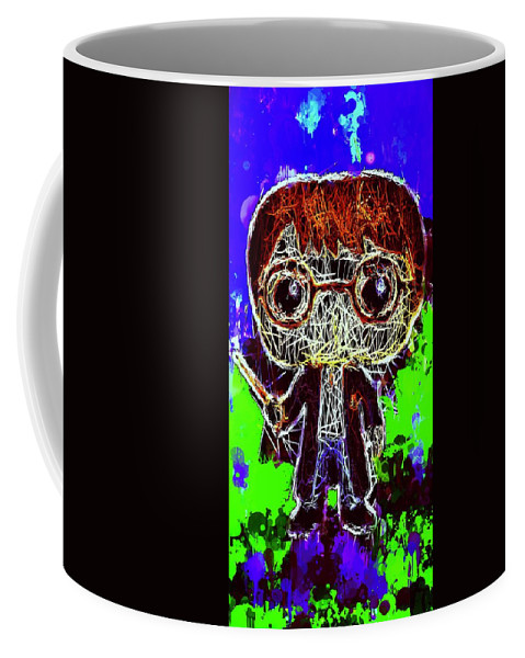 Unko Pop Coffee Mug featuring the mixed media Harry Potter Pop by Al Matra