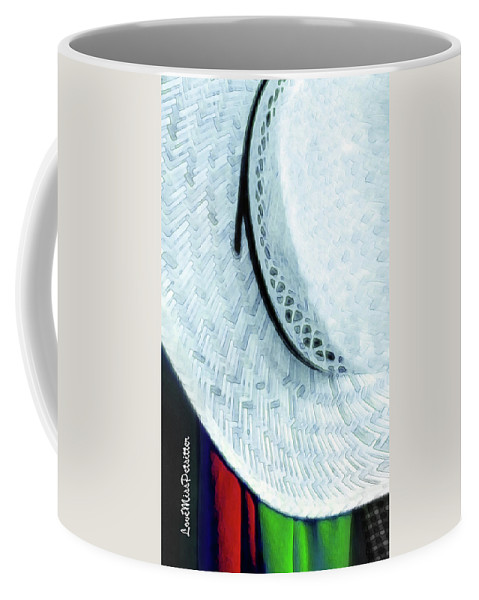 Art Coffee Mug featuring the digital art Hat Painting by Miss Pet Sitter