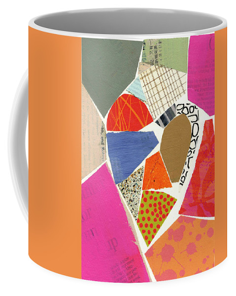 Abstract Art Coffee Mug featuring the painting Heart #40 by Jane Davies