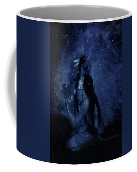Surreal Coffee Mug featuring the digital art Heartbeat Of The Earth by Cambion Art