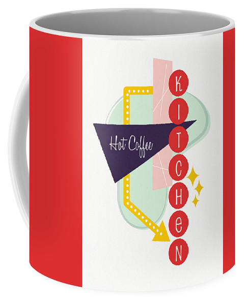 Kitchen Coffee Mug featuring the digital art Hot Coffee Kitchen- Art By Linda Woods by Linda Woods