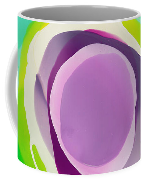 Abstract Coffee Mug featuring the painting Hushed by Claire Desjardins