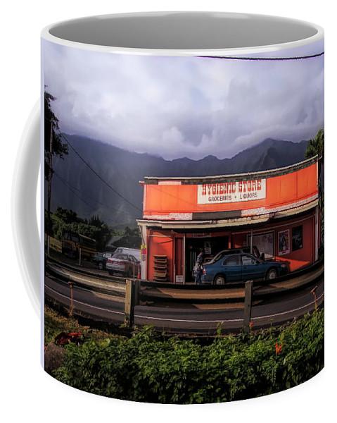 #hawaii Coffee Mug featuring the photograph Hygienic Store, Kahalu'u by Cornelia DeDona