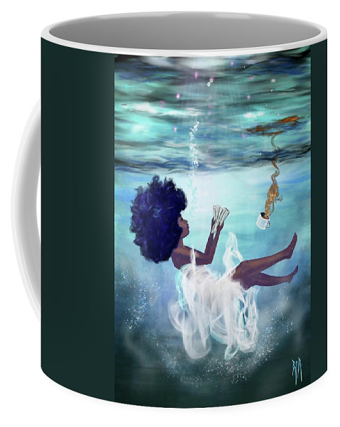 Bible Coffee Mug featuring the painting I aint drowning by Artist RiA
