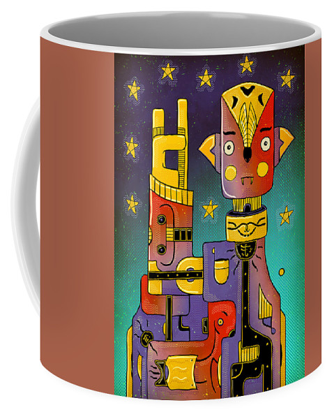Metal Coffee Mug featuring the photograph I Come In Peace - Heavy Metal by Sotuland Art