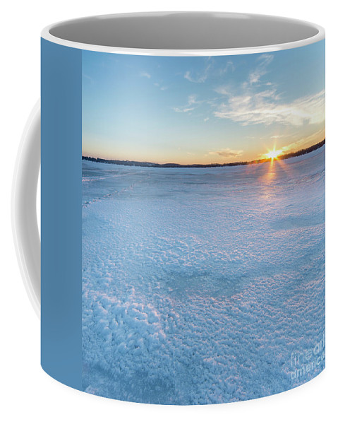 Bear Lake Coffee Mug featuring the photograph Icy Sunset Square by Twenty Two North Photography