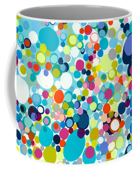 Abstract Coffee Mug featuring the painting In The Meantime by Claire Desjardins