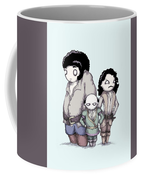 Princess Coffee Mug featuring the drawing Inconceivable by Ludwig Van Bacon