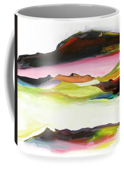 Fine Art Coffee Mug featuring the painting Inner Earth by Artist Rayhart