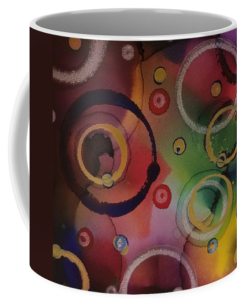 Art Coffee Mug featuring the painting Its so 1970 by Paulina Roybal