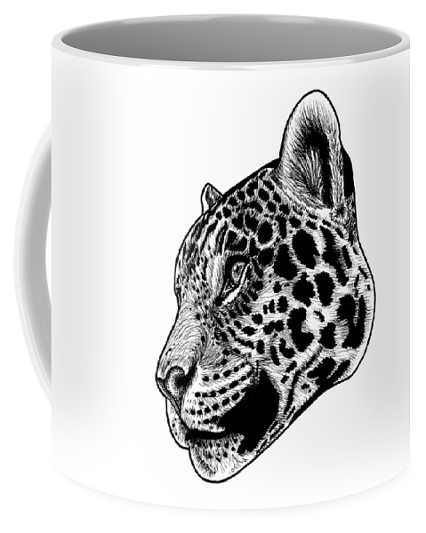 Jaguar Coffee Mug featuring the drawing Jaguar Illustration by Loren Dowding