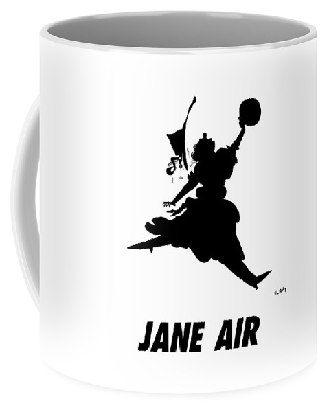 Jane Air Coffee Mug featuring the drawing Jane Air by Sara Lautman