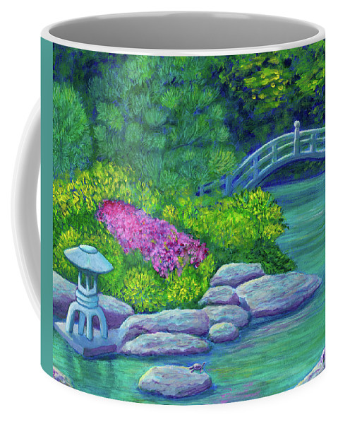 Japan Coffee Mug featuring the painting Japanese Garden by Laura Zoellner