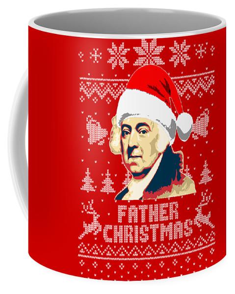 Santa Coffee Mug featuring the digital art John Adams Father Christmas by Filip Hellman