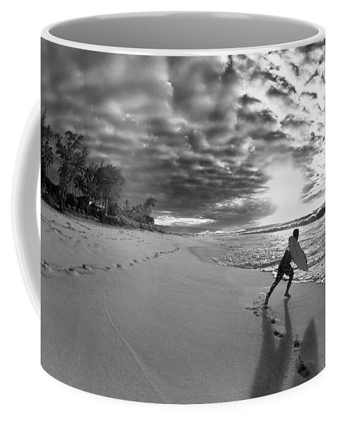 Black And White Coffee Mug featuring the photograph Joyful Embrace by Sean Davey