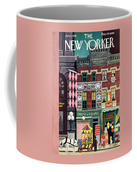 Illustration Coffee Mug featuring the painting New Yorker June 1, 1946 by Witold Gordon