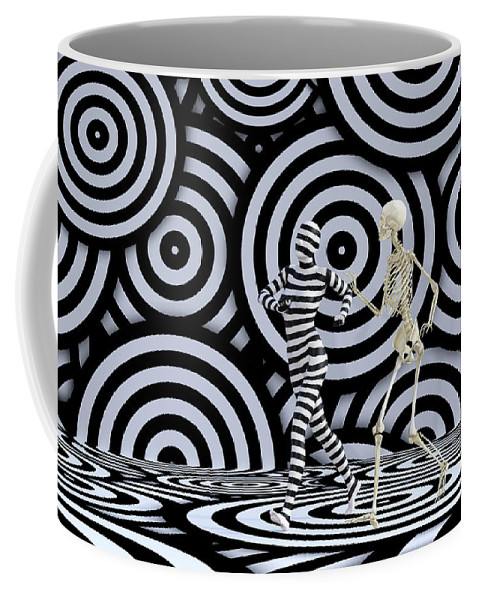 Black Coffee Mug featuring the digital art Just A Moment Please by Betsy Knapp