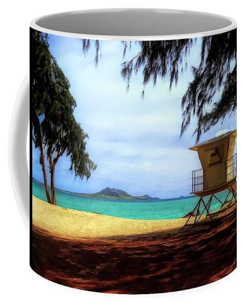 #hawaii Coffee Mug featuring the photograph Kailua Beach by Cornelia DeDona