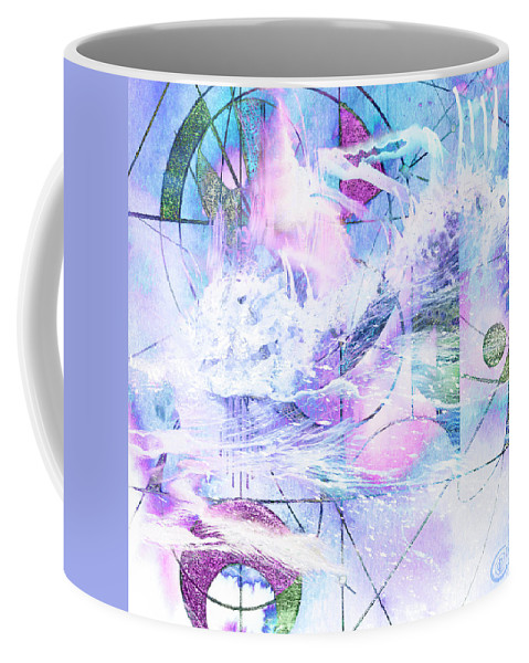 Kaleidoscope Coffee Mug featuring the mixed media Kaleidoscope Sea by Chris Cole