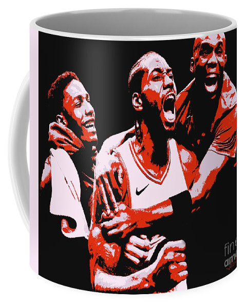 Kawhi Leonard Coffee Mug featuring the painting Kawhi Leonard by Jack Bunds