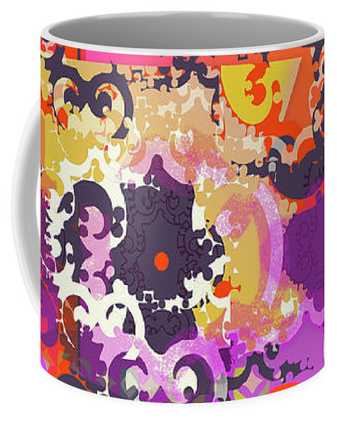 Hot Pink Coffee Mug featuring the digital art Kelly by Ceil Diskin