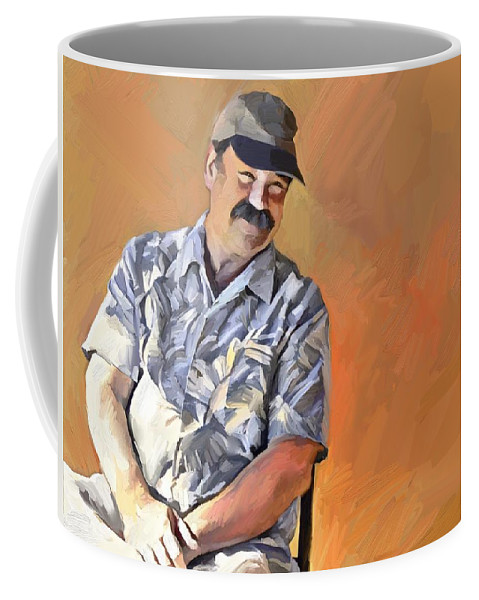 Portrait Coffee Mug featuring the digital art Kevin by Scott Waters