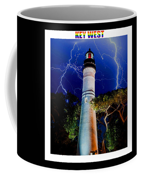 Key West Coffee Mug featuring the mixed media Key West Lighthouse by Jas Stem