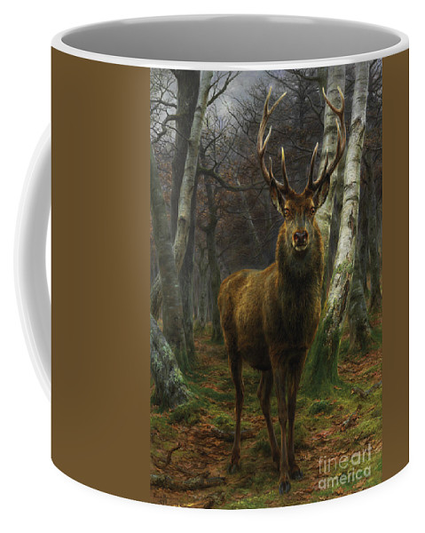 Rosa Bonheur Coffee Mug featuring the painting King Of The Forest by Rosa Bonheur