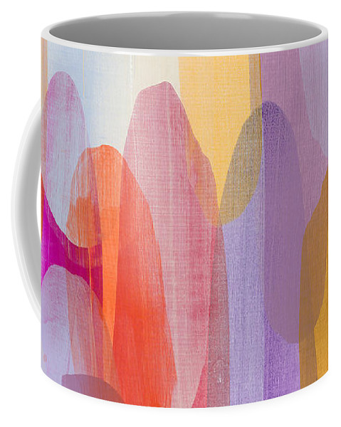 Abstract Coffee Mug featuring the painting Kinship by Claire Desjardins