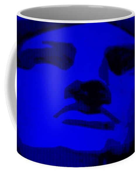 Statue Of Liberty Coffee Mug featuring the photograph Lady Liberty In Blue by Rob Hans