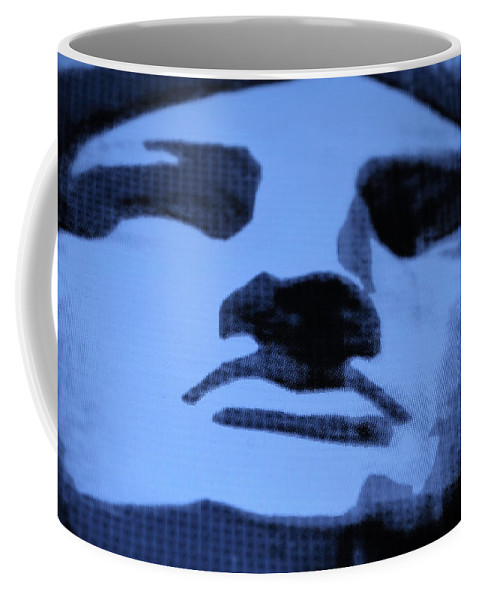 Statue Of Liberty Coffee Mug featuring the photograph Lady Liberty In Cyan by Rob Hans