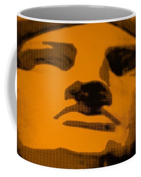 Statue Of Liberty Coffee Mug featuring the photograph Lady Liberty In Orange by Rob Hans