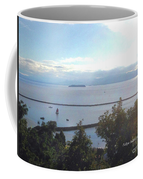 Image In Novel Coffee Mug featuring the photograph Lake Champlain Early Afternoon Sunshine Enhanced by Felipe Adan Lerma