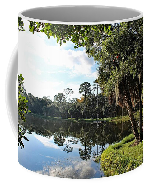 Landscape Coffee Mug featuring the photograph Lake Seminole Park by Gene Weller