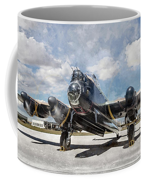 Brad Coffee Mug featuring the photograph Lancaster Engine Test 2 by Brad Allen Fine Art